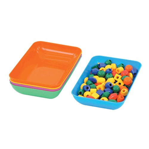 Montessori Set of 5 Coloured Trays