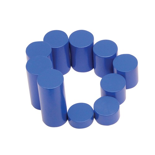 Montessori Blue knobless cylinder spare 7th cylinder 40mm