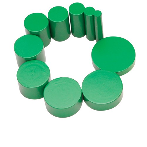 Montessori Green knobless cylinder spare 3rd cylinder ht 45mm