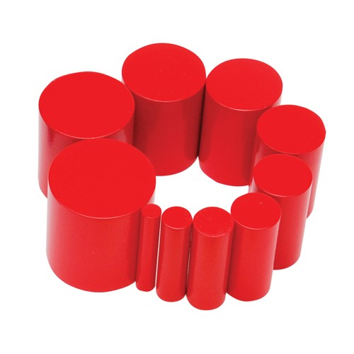 Montessori Red knobless cylinder spare 8th cylinder 45mm