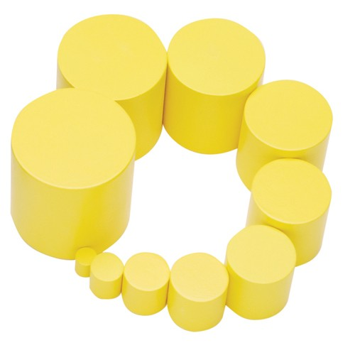 Montessori Yellow knobless cylinder spare 9th cylinder 50mm