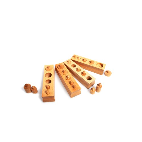 Montessori Outlet Mini knobbed cylinders Block 3