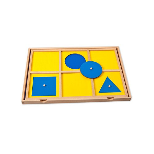 Montessori Demonstration Tray for the Geometric Cabinet