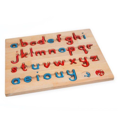 Montessori Small Movable Alphabet Letters red and blue