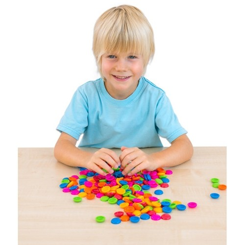 Set of 250 Coloured Sorting Counters
