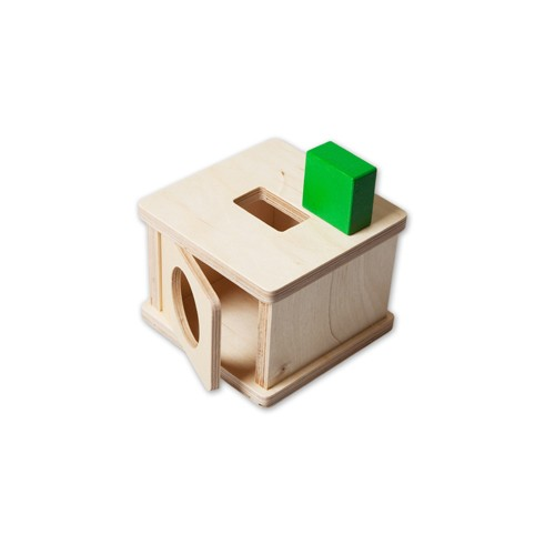 Montessori Imbucare Box with Rectangular Prism
