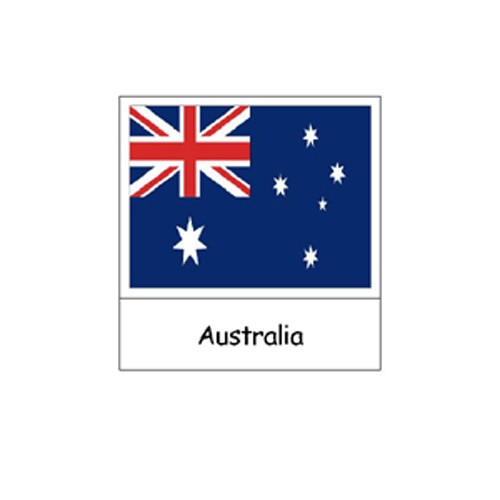 Montessori Australasian Flags Cards pdf file