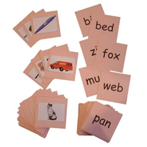 Montessori Pink Series Phonics Reading Cards .pdf File