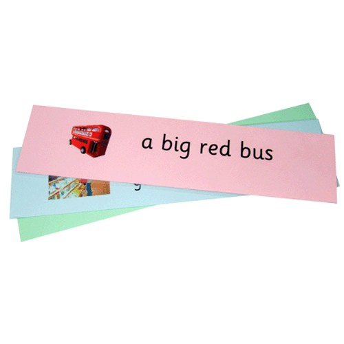 Montessori Reading Phrase and Sentence Strips .Pdf File