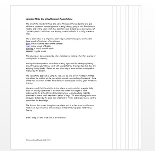 Montessori Literacy Notes .pdf file