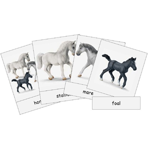 Montessori Farm Animal Families Cards and Noun Labels .pdf File
