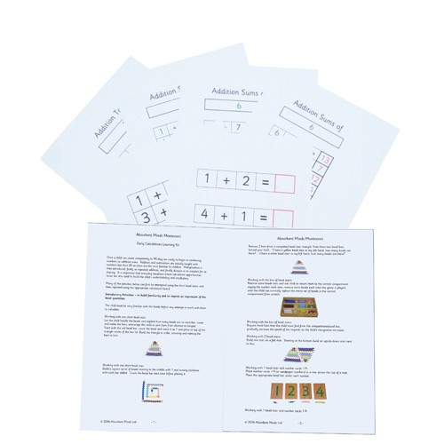 Montessori Early Calculations Notes and Worksheets