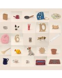 Montessori Set of 25 Pink Level Phonic Objects for literacy boxes