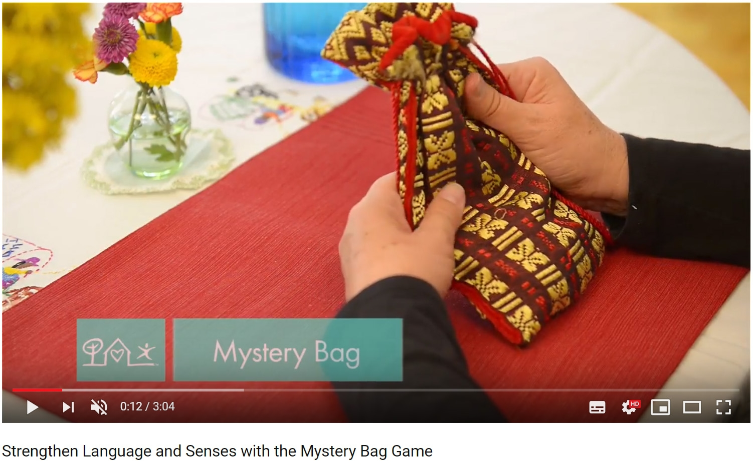 montessoi stereognostic mystery bag