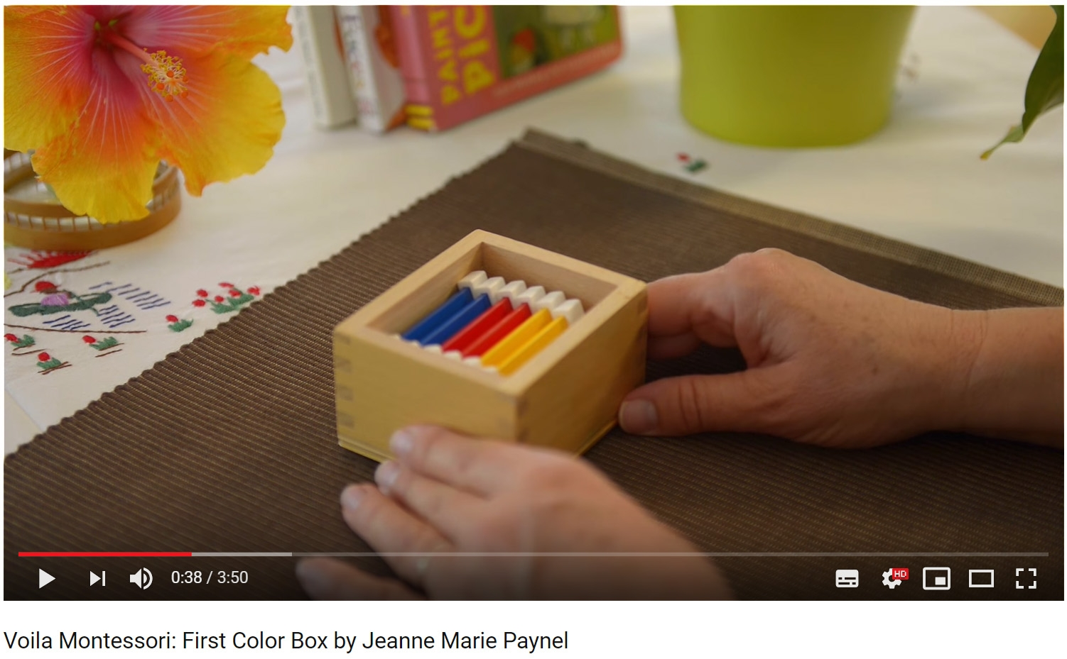 montessori colour box